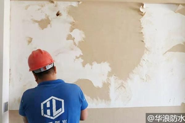 房屋渗水导致墙壁发霉脱落该怎么处理?房屋堵漏企业选